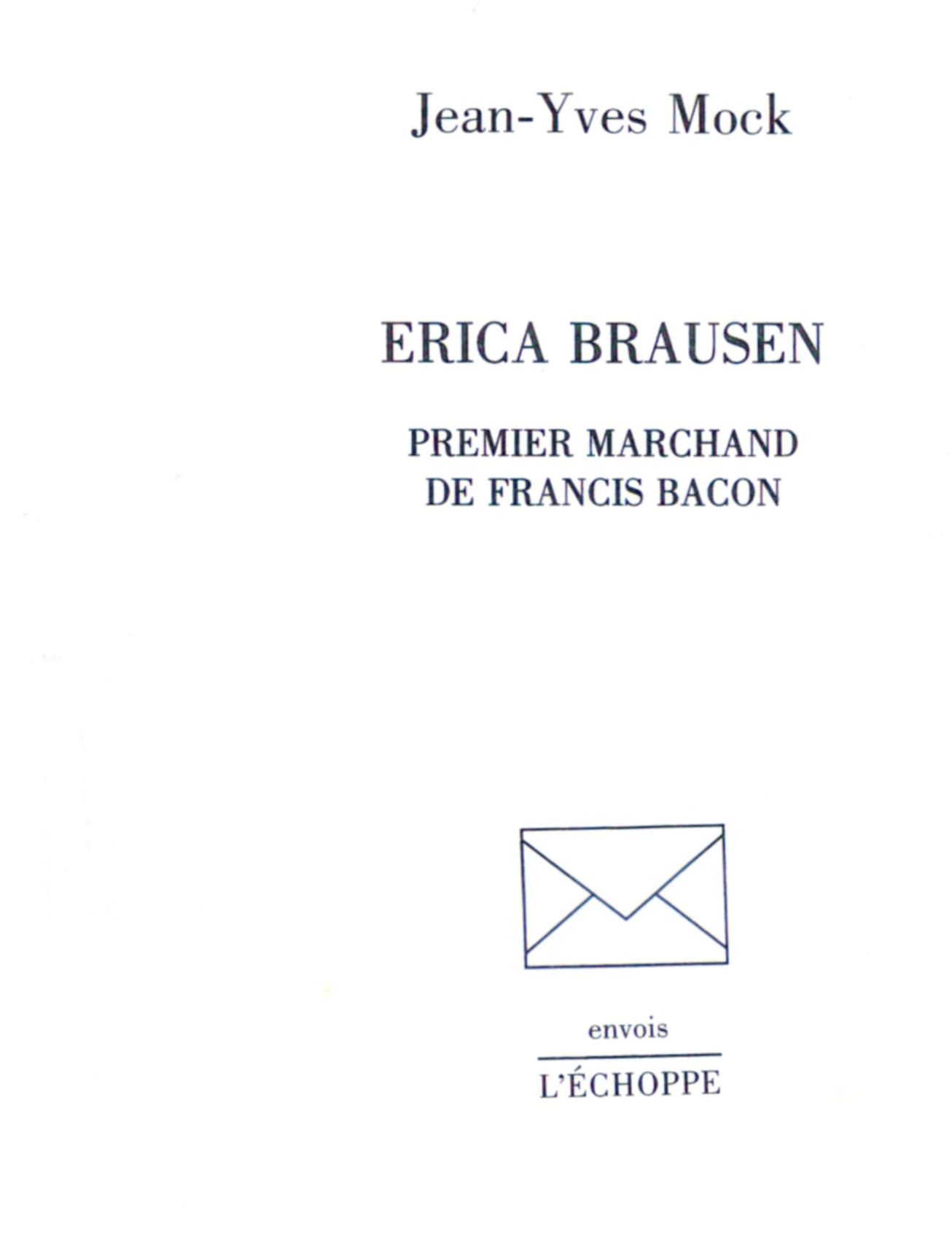 title page of book on Erica Brausen