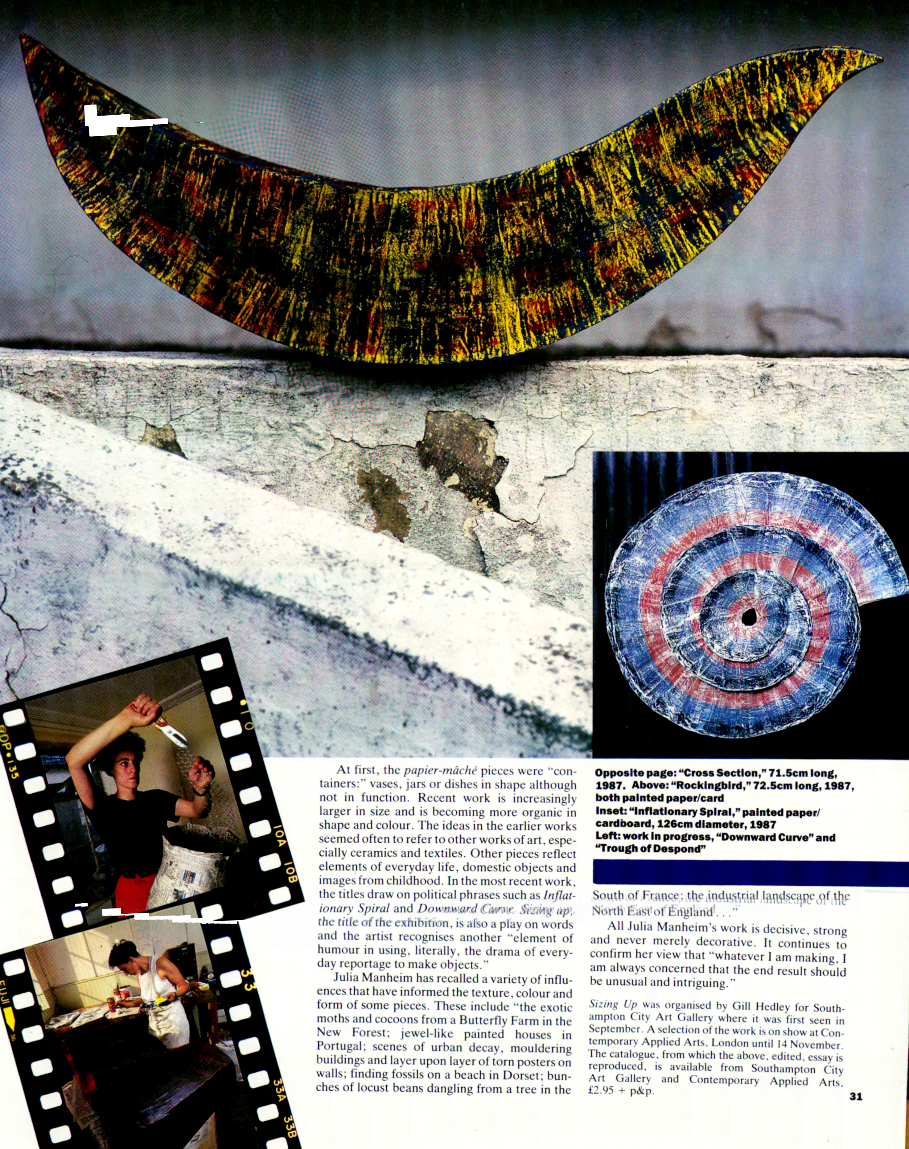 scan of the Crafts Magazine article