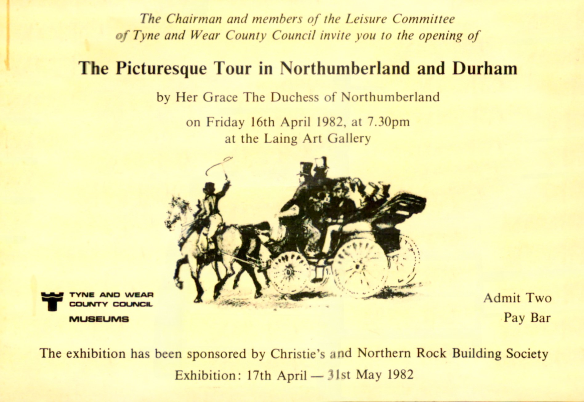 scan of the exhibition opening invite