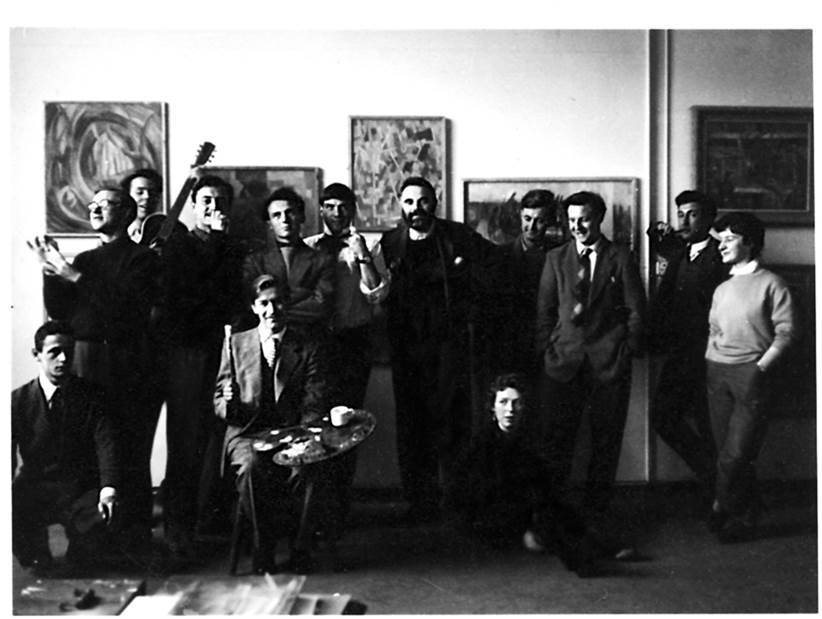 group photo of students in studio 2